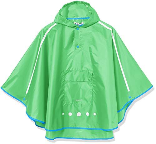 Playshoes Unisex Kinder Regenponcho faltbar Regenjacke, grün 29, S