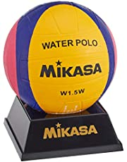 Mikasa W1.5W Waterpolo - Mini Pelota de Agua, Color Amarillo, Morado y Magenta