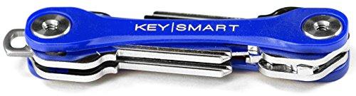KeySmart Lite | Kompakter Schlüsselhalter und Schlüsselbund Organisator (2-8 Schlüssel, Blau)