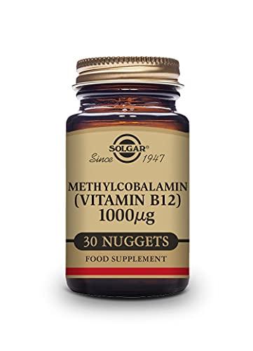 Solgar Vitamina B12 1000 μg (Metilcobalamina), 30 Comprimidos sublinguales y masticables