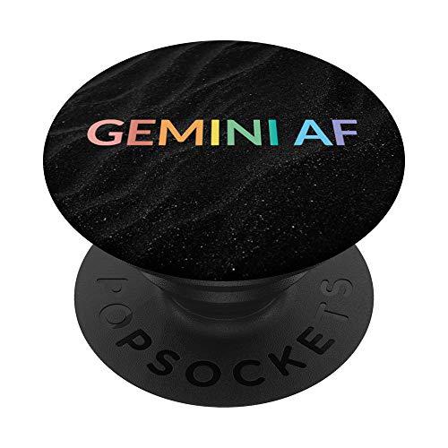 Astrologia Arcobaleno maggio giugno compleanno Gemelli AF PopSockets PopGrip: Impugnatura per Telefoni Cellulari e Tablet Intercambiabile