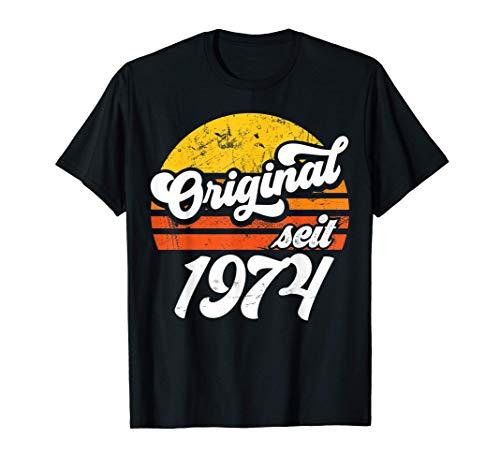 47. Geburtstag Geschenk | Retro Original seit 1974 Geschenk T-Shirt