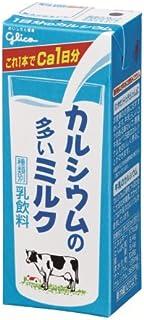 .グリコ乳業 カルシウムの多いミルク 紙パック200ml×24本入【要冷蔵】【クール便】[HF]