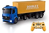 Camión contenedor grande carga control remoto modelo de coche juguete/simulación RC ingeniería vehículo/2.4G multifunción RC construcción coche niños cumpleaños
