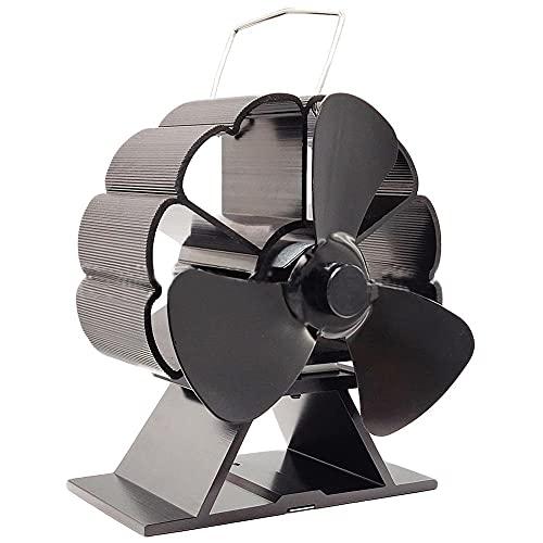 EastMetal Ventilador de Estufa de Calor con 4 Palas, Ventilador de Chimenea, Funcionamiento Silencioso Automático Respetuoso del Medio Ambiente, para Estufas de Leña/Leña/Chimenea