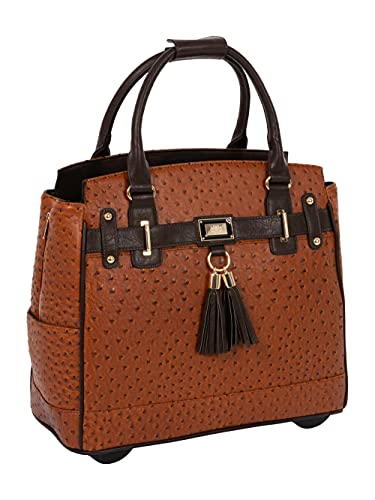 The Uptown Ostrich Computer iPad, Laptop Tablet Rolling Tote Bag Briefcase Carryall Bag