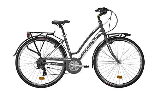 Atala Citybike da Donna Modello 2020 Discovery, 21 velocità, Colore Antracite - Bianco, Misura 44 (S)