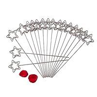 50個組 メモクリップホルダー メモスタンド カード・写真・メモ・テーブル番号立て 金属製 耐久性 テーブル 結婚式 パーティー 披露宴会 適用 三つパータン選べる(星)