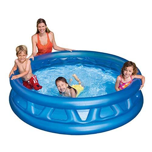 Bewinch Aufblasbare Pools,Verdickte Umweltschutz PVC Kinder Baby-Planschbecken Wasserspeicherkapazität 772 Liter 188 * 46CM,Platz Im Innen- Und Außen Aufblasbare Schwimmbecken Family Pool
