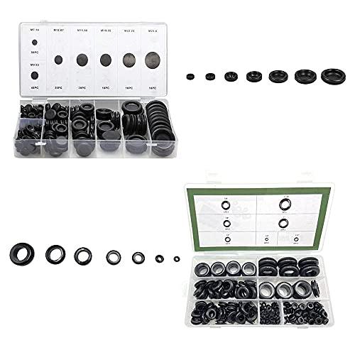 170 PCS,190PCS Rubber Grommet Firewall Hole Plug Set Electrical Wire Gasket KitRubber Gasket Kit