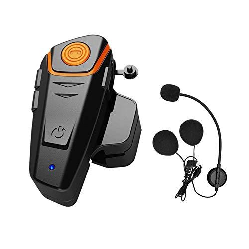 THOKWOK Motorcycle Bluetooth Intercom, BT-S2 1000m Helmet Bluetooth Communication Systems Ski Helmet Headphones Bluetooth Intercom Walkie-Talkie for Snowmobile,Up to 3 Riders(Pack 1,New Version)
