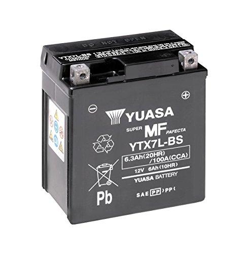 Batterie YUASA YTX7L-BS, 12V/6AH (Maße: 114x71x131) für Aprilia RS4 125 Baujahr 2012