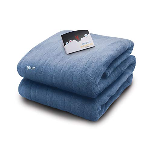 Biddeford Blankets Micro Plush Electric Heated Blanket with...