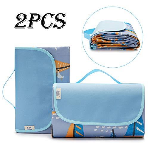 WHBQ - Alfombrilla de pícnic fácil de limpiar, impermeable y plegable, portátil, cómoda y suave, ideal para todas las actividades al aire libre y al aire libre A