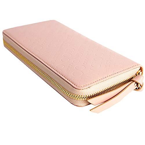 [ジミーチュウ]ラウンドファスナー長財布ジップウォレットエンボスロゴPIPPA本革メンズレディースプレゼント(ピンク)[並行輸入品]