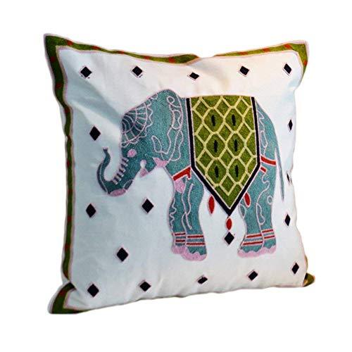 MeMoreCool Federa per cuscino ricamata modello Nepalese, realizzata a mano, in cotone, esotica, etnica, decorativa per divano, 45x45 cm Style23