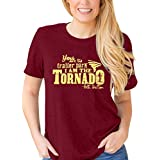 I am The Tornado Beth Dutton Shirt Yellowstone Shirts Women Vintage Beth Ranch Graphic Short Sleeve Tee Top (Red, XL)