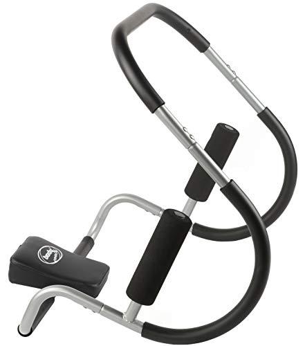 BODYCOACH Bauchmuskeltrainer AB Roller – Bauchtrainer und Rückentrainer Crunch-Hilfe mit Hand-Griffen und Nackenpolster