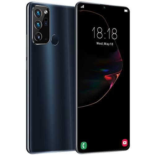 ZXYSR Note 20 Smartphone Economici, Sblocco con Impronta Digitale Posteriore Sblocco Volto Umano Cellulari Economici 18MP + 48MP Pixel4 GB + 128 GB, Telefonino,Nero