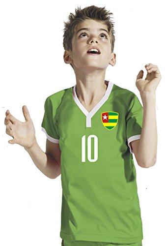 Aprom-Sports Togo Kinder Trikot - Hose Stutzen inkl. Druck Wunschname + Nr. GGG WM 2018 (116)