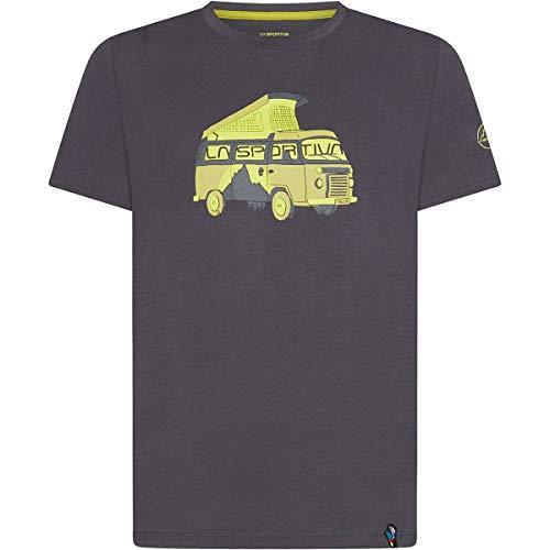 LA SPORTIVA Van 2.0 T-Shirt Grau, Herren T-Shirt, Größe M - Farbe Carbon - Kiwi