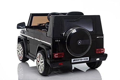 RC Auto kaufen Kinderauto Bild 2: Kaufexpress Mercedes Benz G65 AMG Jeep SUV Kinderfahrzeug Kinderauto Elektroauto Fernbedienung MP3 Anschluss in Schwarz*