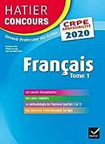 Français tome 1 - CRPE 2020 - Epreuve écrite d'admissibilité de Micheline Cellier