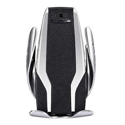 AUCAC Wireless Charger Auto Schnelles Aufladen mit automatischer Klemmung Induktions Ladegerät für Apple iPhone XS/XS Max/XR/X/8,Galaxy S10,Note 9/S9/Note 8/S8/S7,Huawei Mate 20pro usw Silber