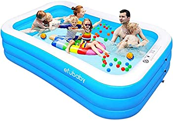 Efubaby 120 X 72 X 22 Inches Full-Sized Swimming Inflatable Pool