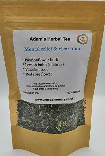 Mental Relief & Clear Mind 50 gr - Premium Herbal Loose Tea Blend- 100% Natural Herbal Medicinal Tea - Specially Formulated