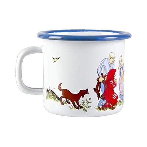 Muurla Design - Enamel mug - Tasse /Becher - Emaille - Emil aus Lönneberga - Weiß /Bunt - 2,5dl / 250ml -