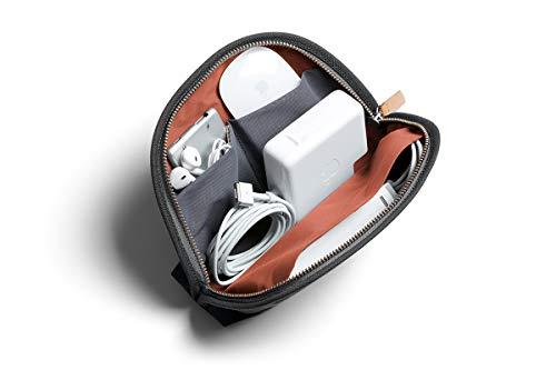 Bellroy Classic Pouch, Mäppchen, Stiftemappe, Tasche, Leder und Stoff (für Stifte, Kabel, Kosmetik, Scheren, Kopfhörer, Radiergummis) - Charcoal
