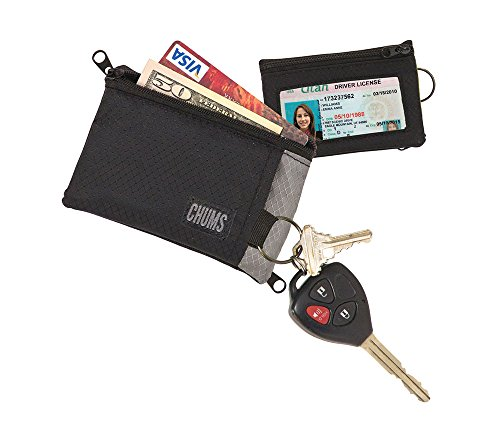 Chums Surfshort Wallet, Black/Gray
