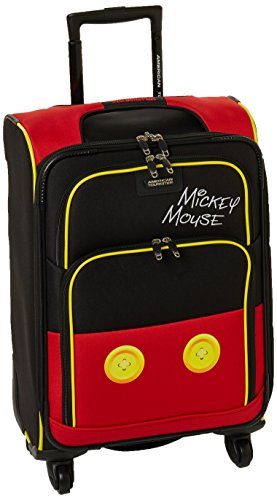 Locking Handle Polyester Mickey Mouse Kids Luggage with ID Tag