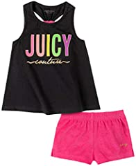 Juicy Couture: Juicy Couture brings its west coast style and attitude to girls all over the world Style and design: our trend driven designs will ensure that your little girl looks as good as she feels Comfortable fit: two piece set perfect for dress...