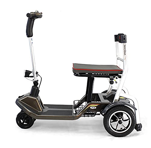 GWXSST Para todo terreno para viajes al aire libre, 3 ruedas, silla de ruedas eléctrica portátil, scooters de movilidad plegable/plegable para adultos mayores, silla de ruedas con asiento