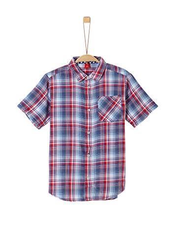 s.Oliver Junior Jungen 402.10.004.11.120.2037865 Hemd, Mehrfarbig (56n1 Kobalt Check), S/REG