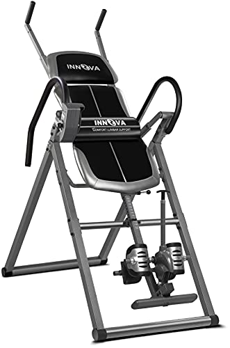 INNOVA HEALTH & FITNESS ITX1200 Inversion Table with Adjustable Stretch Bars for Optimal Slope Inversion and Full Body Stretch