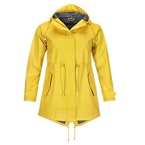 modAS Damen Regenmantel Regenjacke gelb - blau- grün - anthrazit Regenjacke Frauen (gelb, 48/50)
