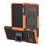 JZ Tire Pattern Funda For para Samsung S10 Plus / S10+ with [Kickstand] Shockproof Scratch-Resistant...