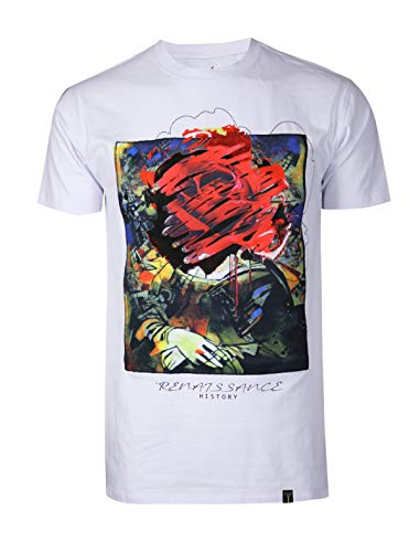 SCREENSHOTBRAND Mens Hipster Hip-Hop Premiun Tees – Stylish Longline Latest Fashion T-Shirts – Gold CC Logo – White – Xlarge