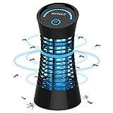 Qomolo Lámpara Anti Mosquitos, Mata Mosquitos Electrico Mosquitos Killer, UV Luz Lampara para Segura y Eficaz Repelente Zapper Mosquitos Polillas para Salón, Cocina, Despacho y Habitación Infantil