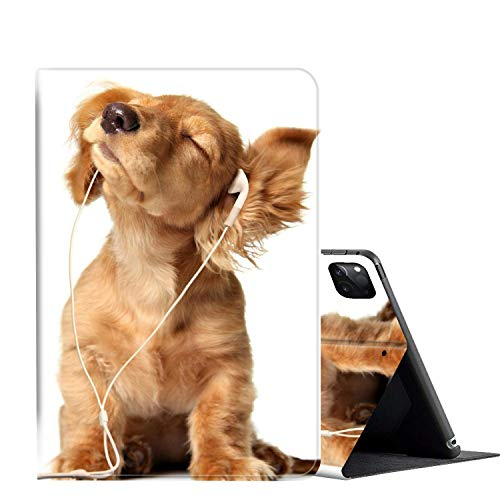 iPad Pro 12.9 Case 2020,AMOOK Adjustable Folio Smart Cover Stand Shockproof TPU Case with Auto Sleep/Wake & Anti-Slide Design for Apple iPad Pro 12.9 Inch 4th Generation- Cocker Spaniel Puppy Dog