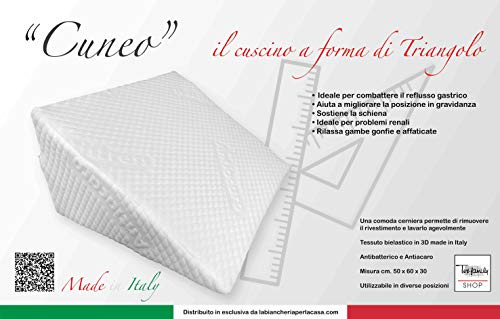 tex family Cuscino AD Angolo Triangolo A Cuneo Gambe Gravidanza REFLUSSO GASTRICO per Letto E Divano Sostegno Lombare Schiena