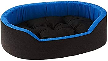 Mellifluous Reversible Oval Shape Soft Velvet Cat Dog Pet Bed (Length 66 x Width 53 x Height 14 cms)