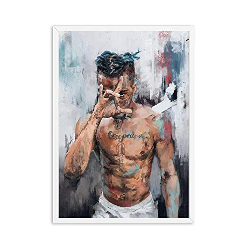 HXQQ Xxxtentacion Leinwand Malerei Abbildung Bild Wandkunst Porträt Wohnkultur Gemälde Abstrakte Sterne Bilder Kunst Poster und Prints50x70cm