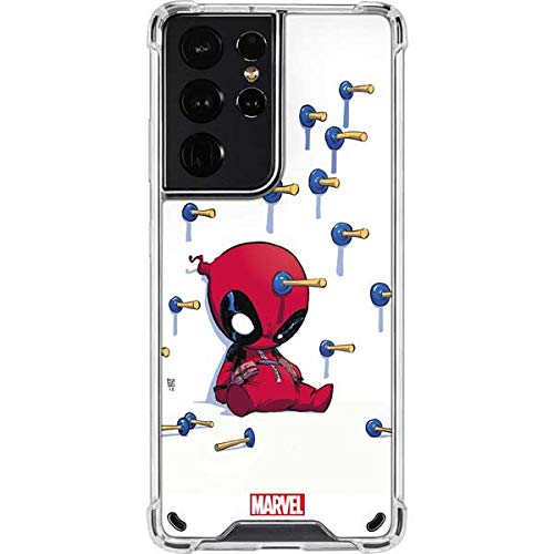 Skinit Clear Phone Case Compatible with Samsung Galaxy S21 Ultra 5G - Officially Licensed Marvel Baby Deadpool Design