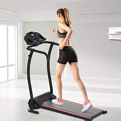 Fácil de montar equipos de fortalecimiento plegable caminadora gimnasio en casa es fácil de controlar,Black