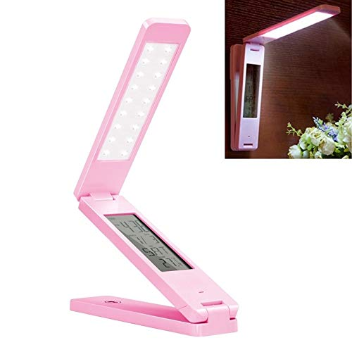 Zaklamp LED bureaulamp Folding Touch Adjust USB opladen Oogbescherming tafellamp Eye-Care Desk Lamp (Color : Pink)