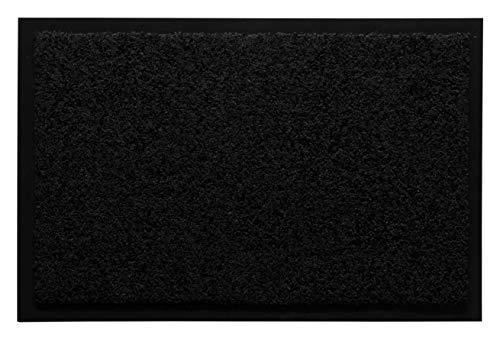 andiamo Eingangsbereich in/Outdoor – Rutschhemmend Waschbar Fußmatte, Polyamid, schwarz, 40 x 60 cm